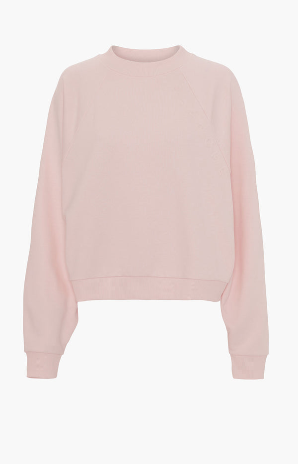Sweatshirt Hella Embossed in Spring BlushBlanche - Anita Hass