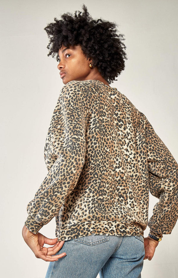 Oversized Sweatshirt in Brown Leopard