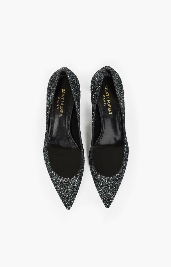 Charlotte 55 Pump Glitzer Light VertSaint Laurent - Anita Hass