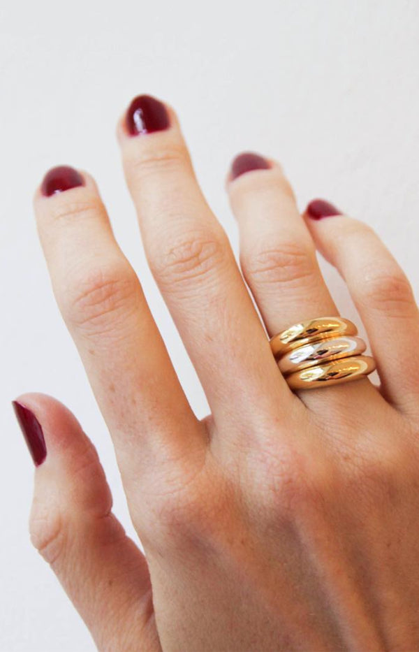 Small Chunky Ring GoldNina Kastens Jewelry - Anita Hass
