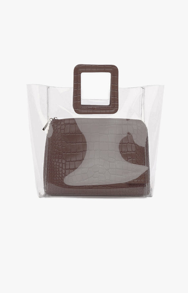Tasche Shirley Clear/Brown CrocStaud - Anita Hass
