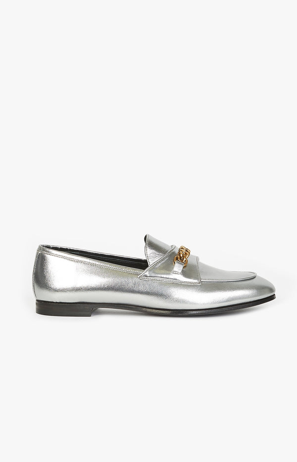 Flacher Loafer in SilberTom Ford - Anita Hass