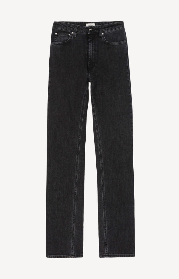 Jeans High Waist Straight Grey Washtotême - Anita Hass