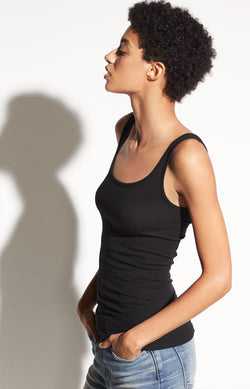 Tank Top Scoop Neck in SchwarzVince - Anita Hass
