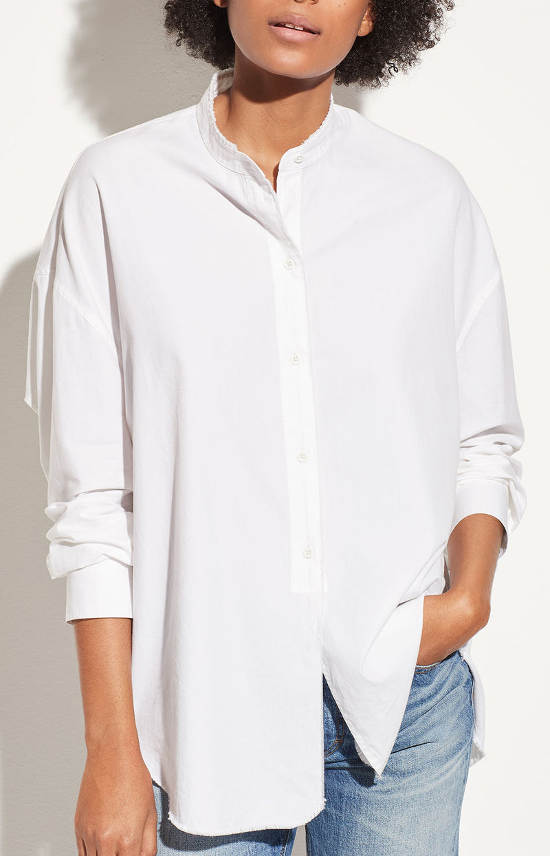 Oversized Bluse Raw Edge Off WhiteVince - Anita Hass