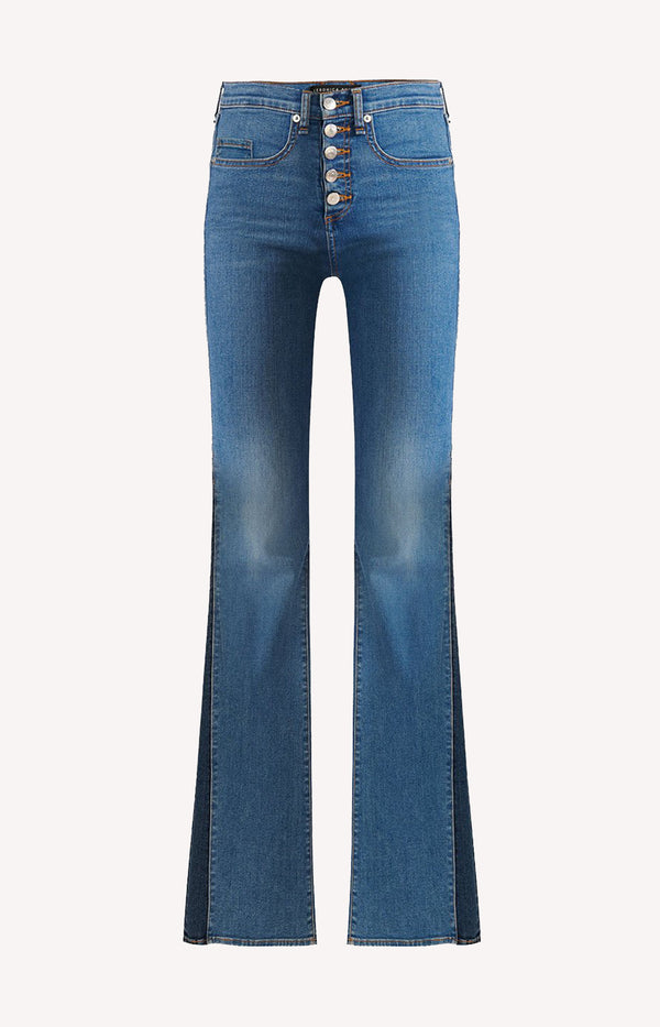 Jeans Kiley High Rise Wide in Two ToneVeronica Beard - Anita Hass