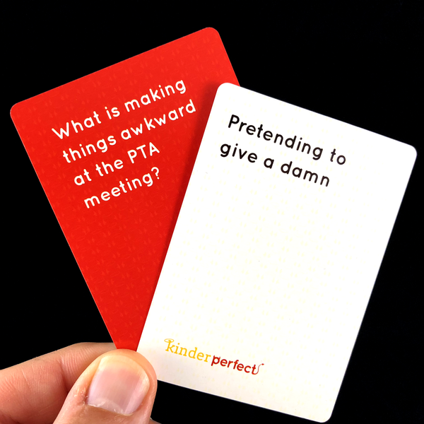 Pretending to give a damn - parents party card game