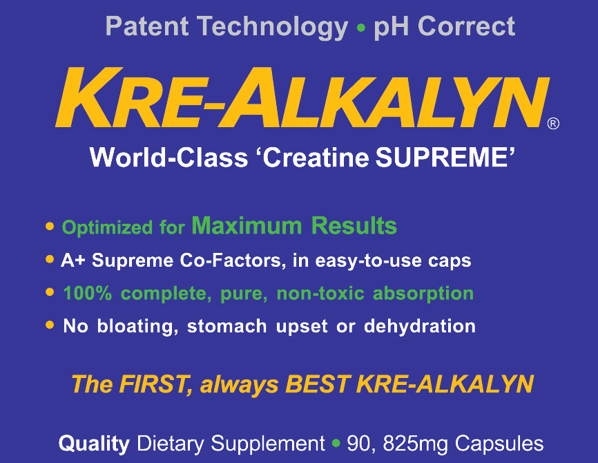 WIN $139 of KRE-ALKALYN CREATINE SUPREME for FREE. No catch! No charge!