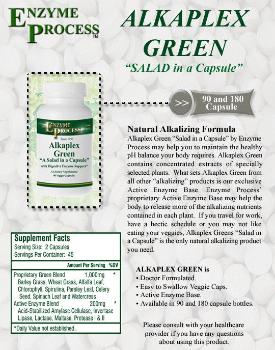 Have you heard? ALKAPLEX GREEN is Now Back by Popular Demand!
