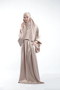 By Modest Mecca - Nude Telekung with toiletries