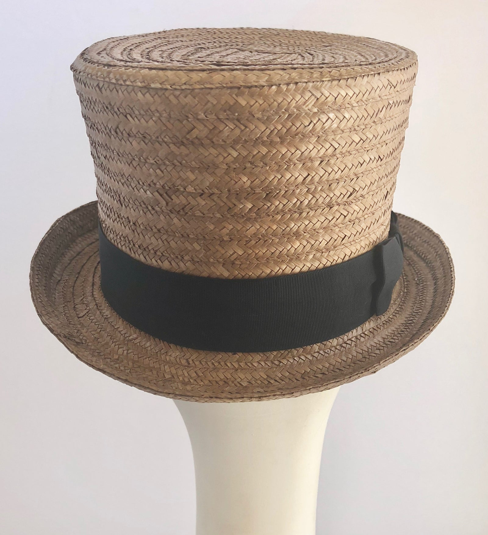 Classic Formal Top Hat with Black Trim