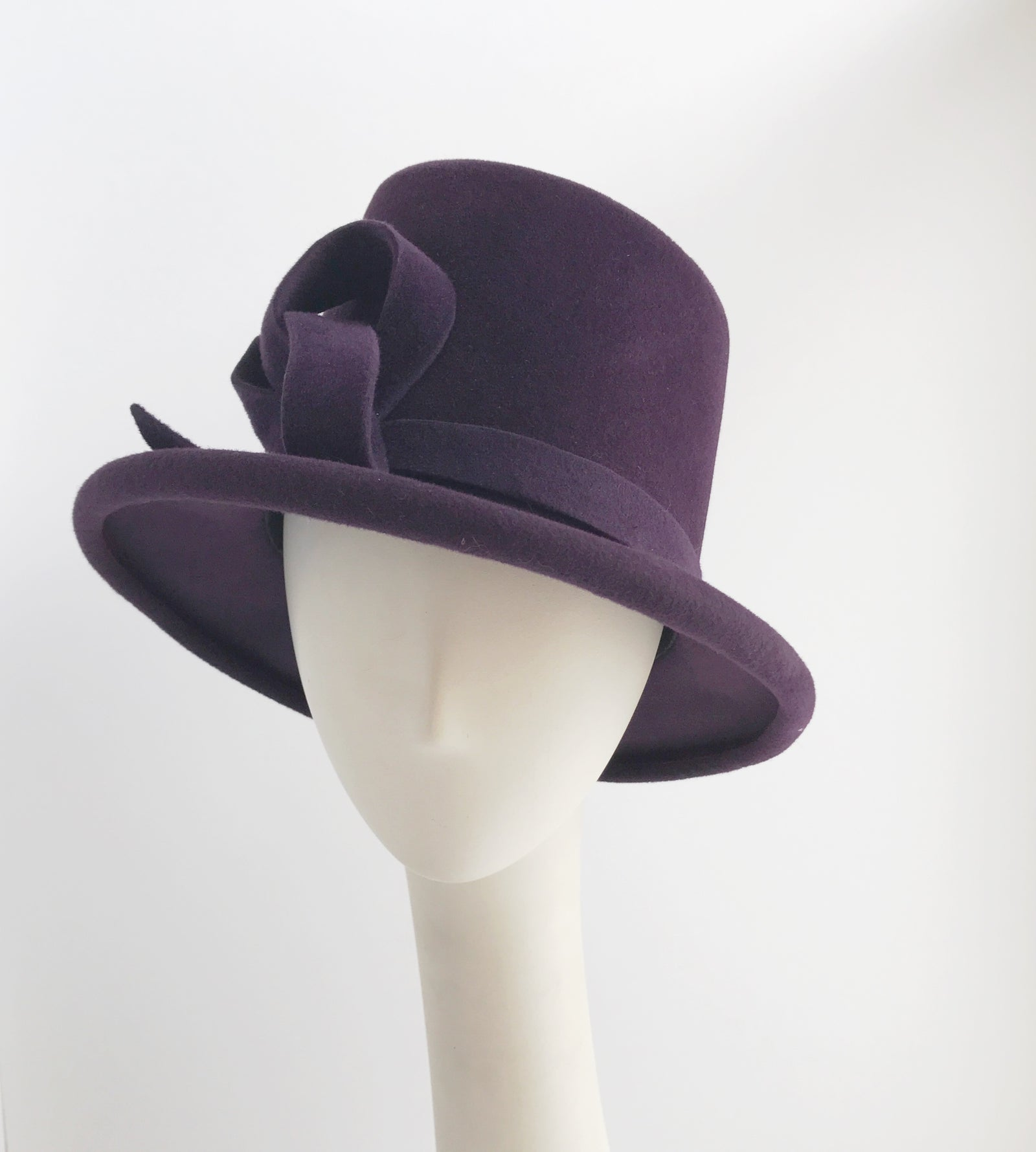 Sugar Loaf Felt Hat in Grape
