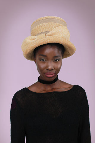 EVE Wide Brim Straw Hat with Black Trim