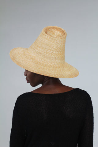 """Clam Shell - Straw Sun Hat"""