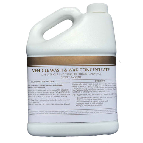 Vehicle Wash and Wax Concentrate