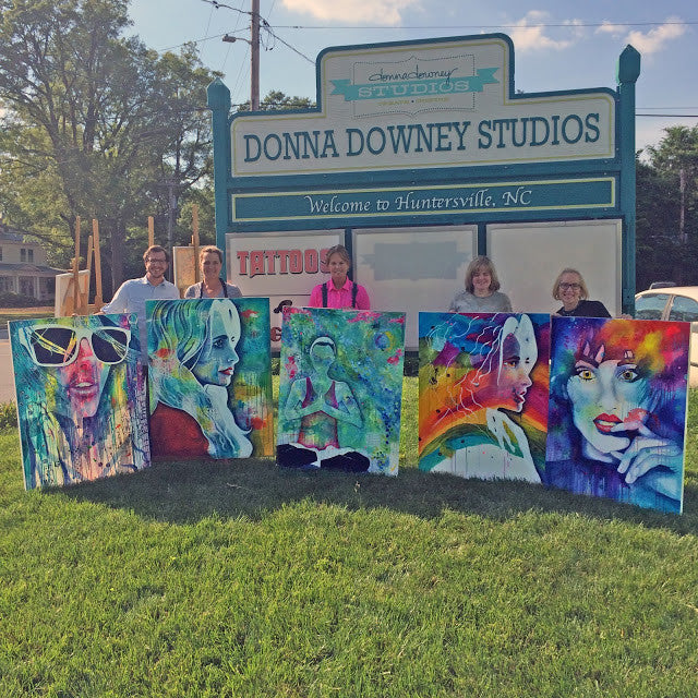 Donna Downey's and Stephen Lursen's Collaborative Art Workshop #3