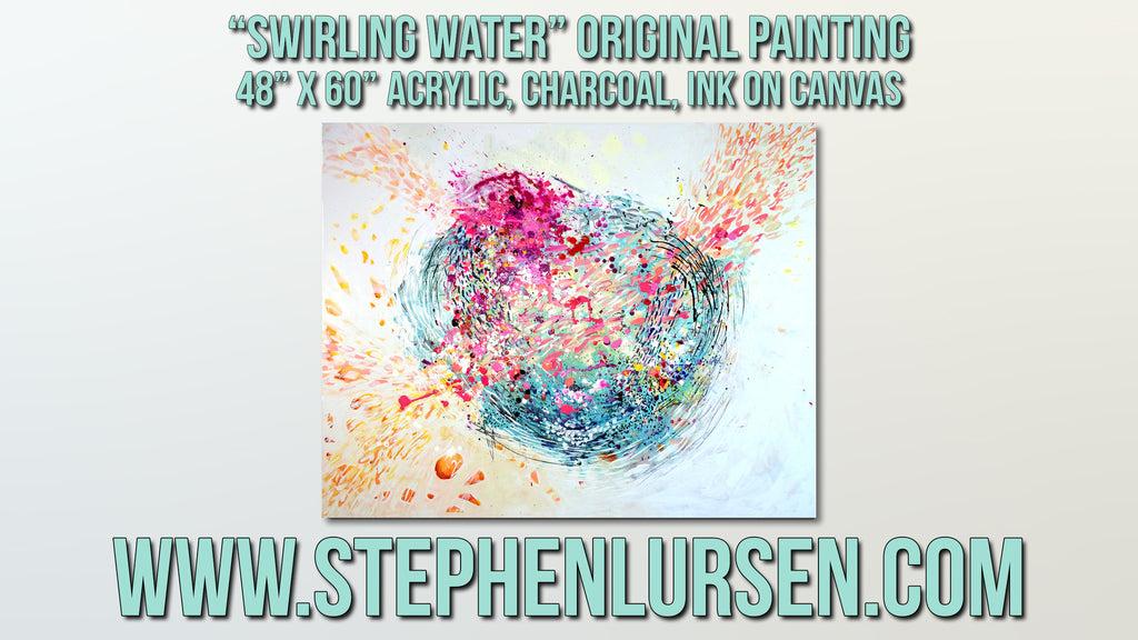 """Swirling Water"" A new time lapse painting video"