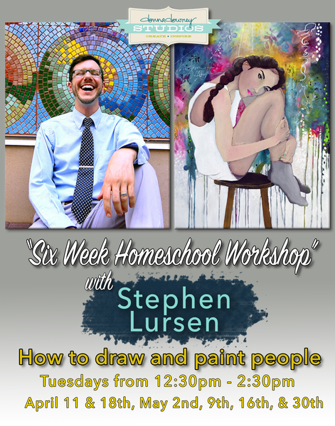 6 week homeschool art class: How to draw and paint people