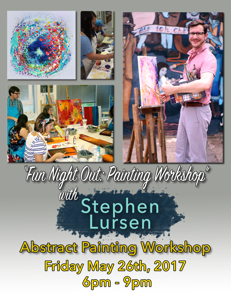 Fun Night Out Artist Workshop with Stephen Lursen at Donna Downey Studios