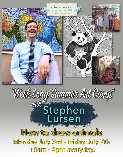 Kid's summer art camp: How to draw animals with Stephen Lursen at Donna Downey Studios