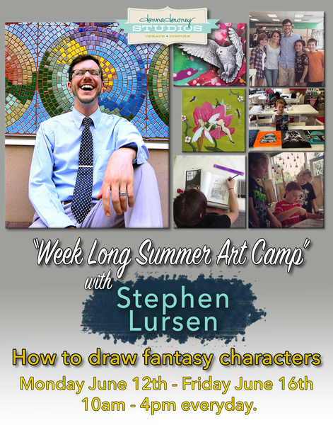 Kid's Art Summer Camp: How to Draw Fantasy Characters with Stephen Lursen at Donna Downey Studios