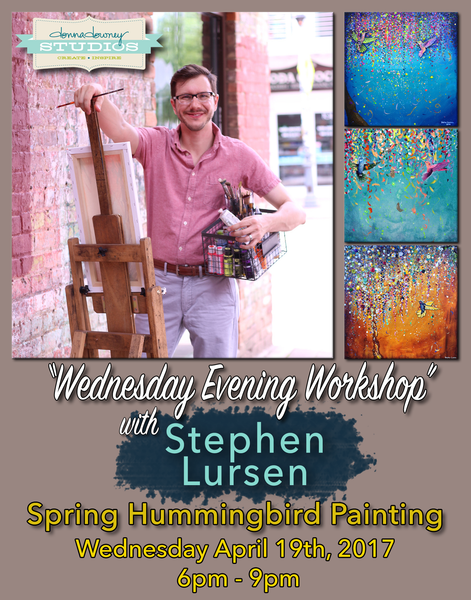 Wednesday Evening Artist Workshop: Spring Hummingbird Painting