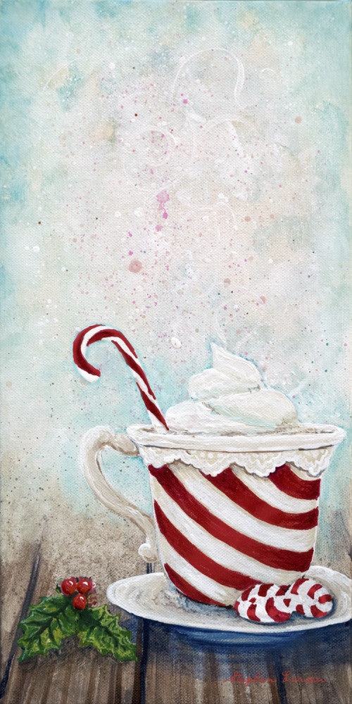 """Candy Cane Winter Warmth"" Printable PDF"
