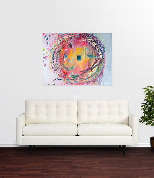 SOLD!!!: A Warm Personality: Original mixed media painting by Stephen Lursen