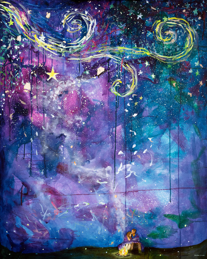 SOLD!!! Starry Eyed - original painting by Stephen Lursen