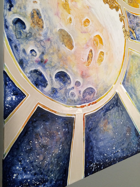 Original Painting - Sun and Moon by Stephen Lursen