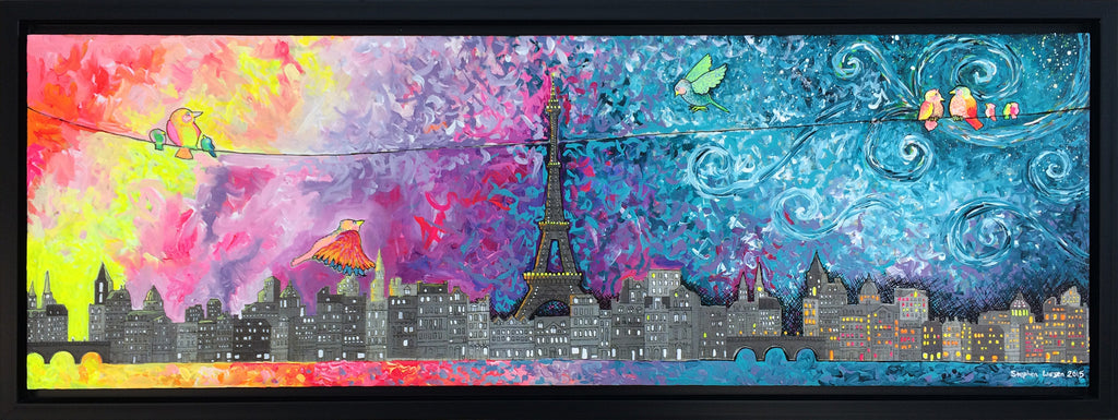 Sunrise over Paris - Acrylic Painting by Stephen Lursen