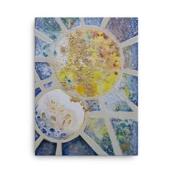 "Fine Art Canvas Reproduction: ""Sun and Moon"""