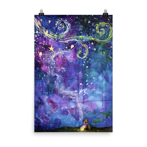 Starry Eyed Fine Art Print: Photo paper poster