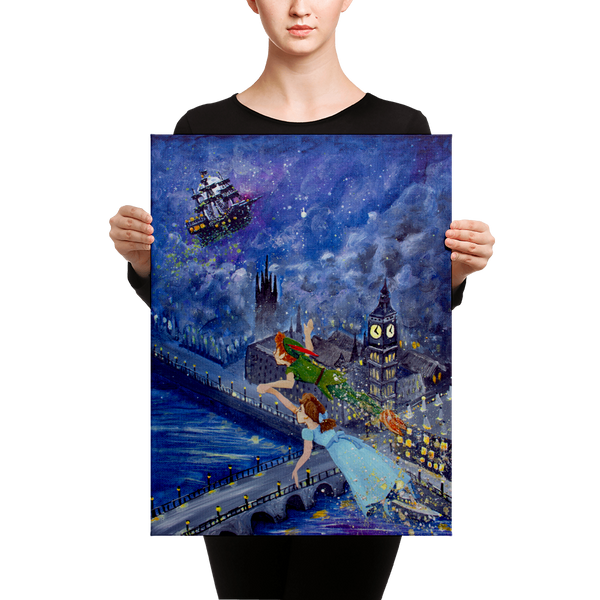 "Fine Art Canvas Reproduction: ""Peter Pan and Wendy Darling"""