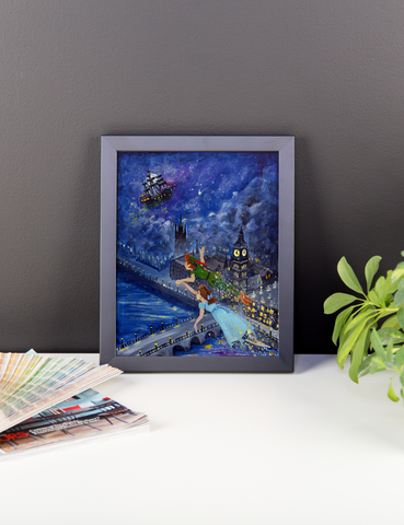 Peter Pan and Wendy Darling Fine Art Print: Framed photo paper poster