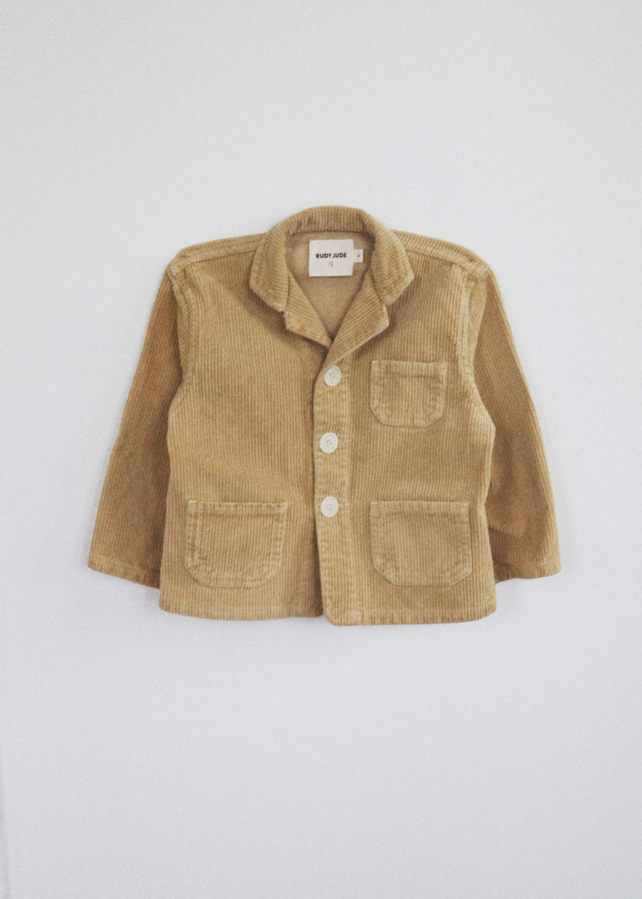 Kid's Utility Jacket In Wide Corduroy