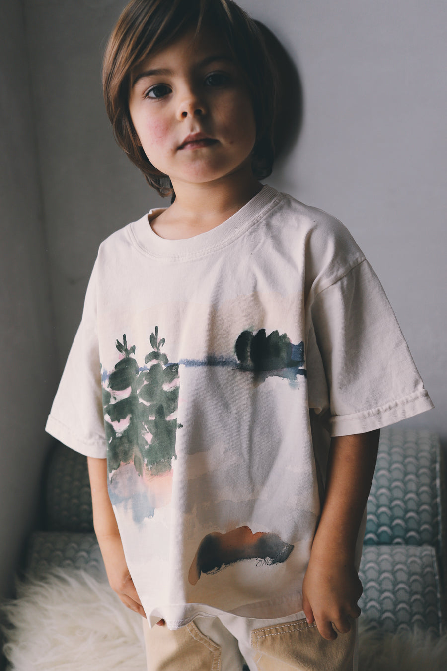 Kids Hand Painted Big Tee