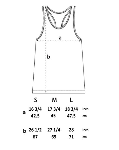 SIZE GUIDE racer back vest
