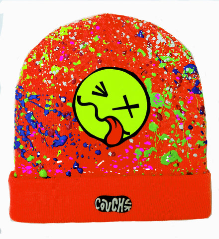 TONGUE BEANIE ORANGE