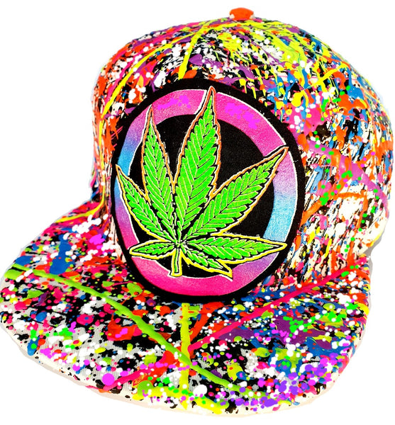 WEED BADGE CAP WHITE