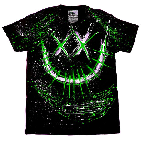 EVIL G T-SHIRT BLACK AND GREEN
