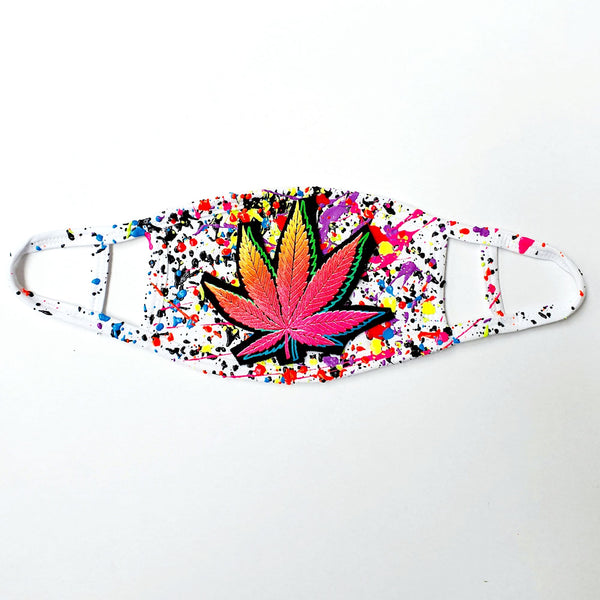 DOUBLE WEEDLEAF MASK WITH BAG - PACK OF 2 (SECOND MASK IN MULTI COLOURED SPLASH)