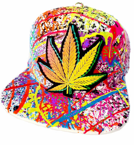 DOUBLE WEEDLEAF CAP WHITE