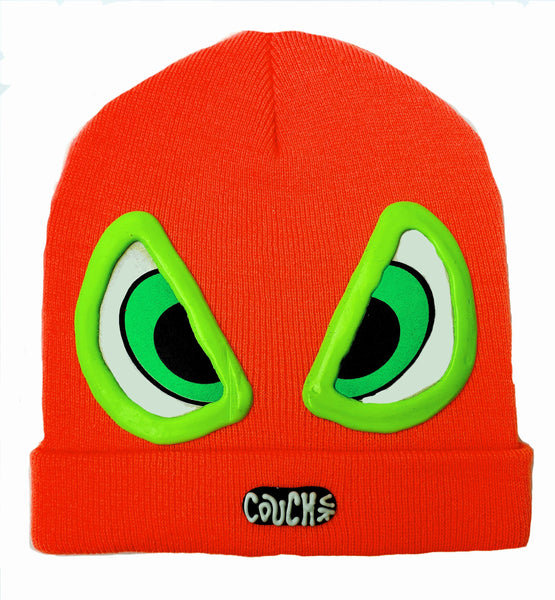 EVIL EYE BEANIE ORANGE