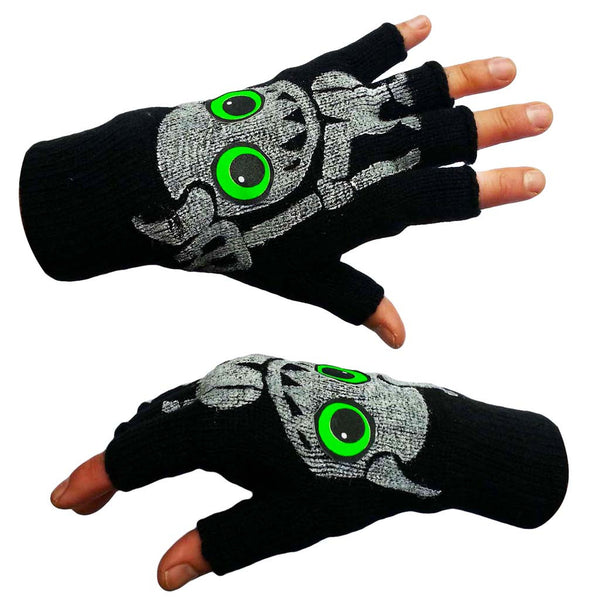 COUCHUK - UV REACTIVE - DEVIL GLOVES - Clubwear - PLUR - Rave clothing