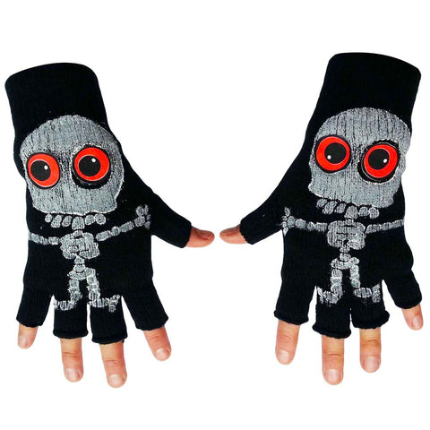 COUCHUK - UV REACTIVE - SKELLY GLOVES - Clubwear - PLUR - Rave clothing