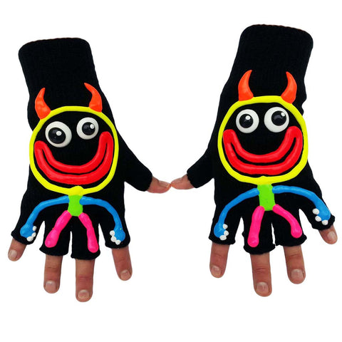 HAND PAINTED GLOVES DEVIL MAN