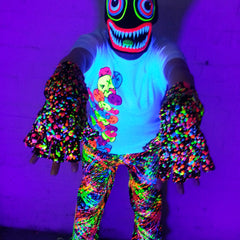 COUCHUK - UV REACTIVE - SPLAT GLOVES NEON MULTI - Clubwear - PLUR - Rave clothing