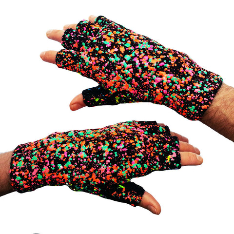 SPLAT GLOVES GREEN ORANGE MULTI