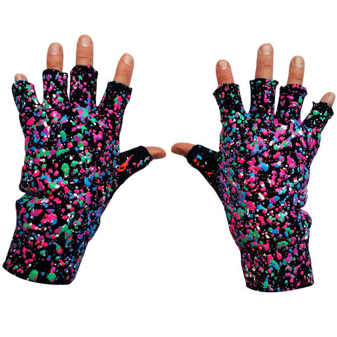 SPLAT GLOVES PURPLE GREEN PINK MULTI